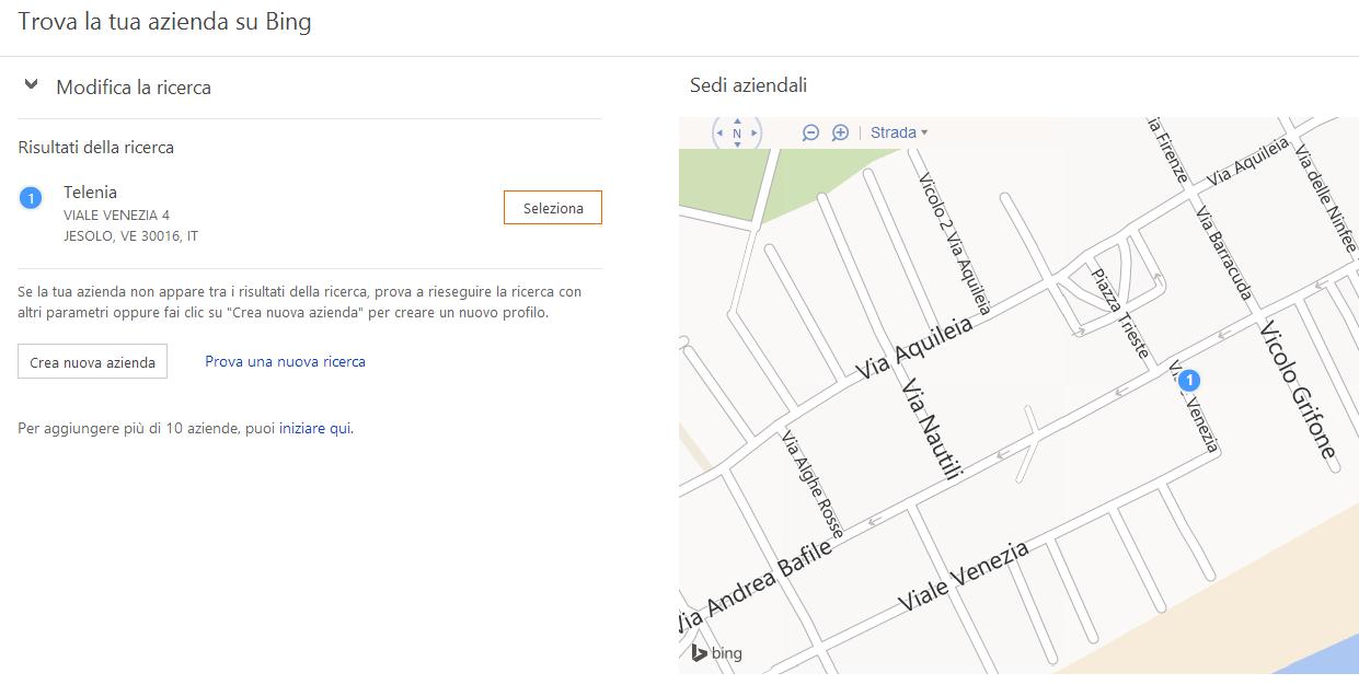 Bing Places per le aziende (1)