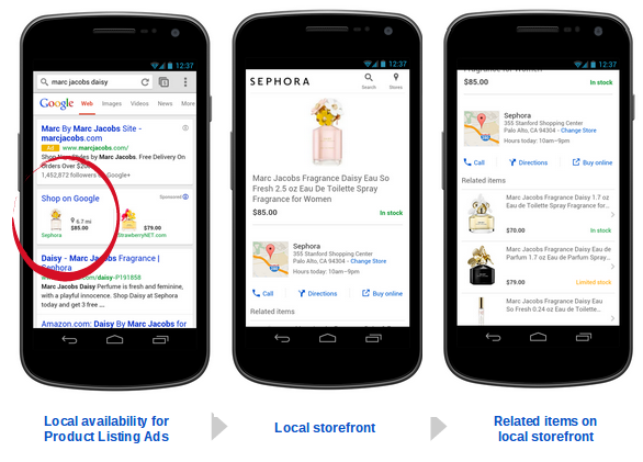 local availability for Product Listing Ads