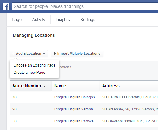 Aggiungere posizione su Facebook
