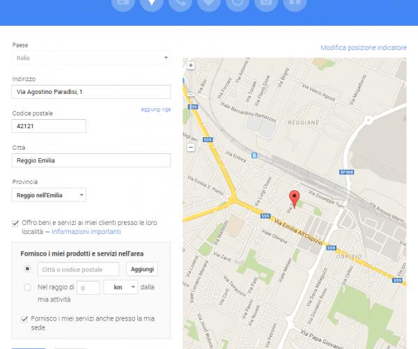 nascondere indirizzo su Google My Business