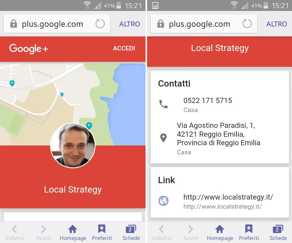 Screenshot Mobile Local Strategy
