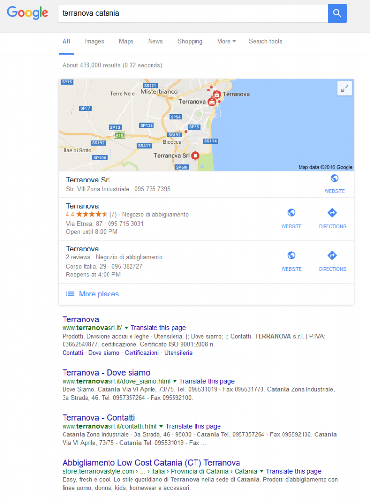 3-local pack Google My business